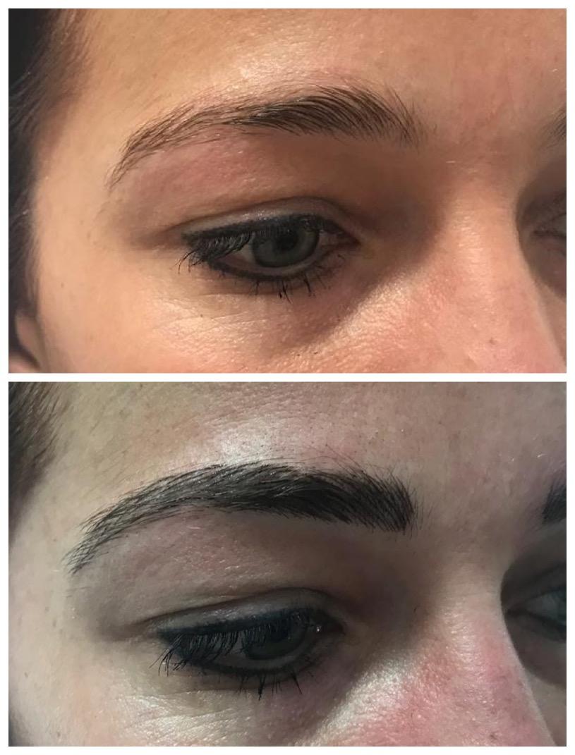 PMU Microbladed Eyebrows